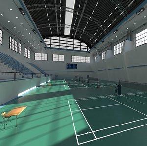 3D model badminton
