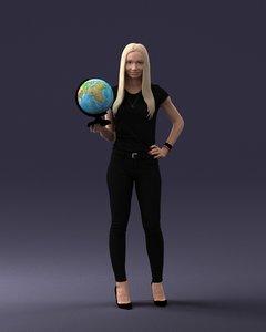 globus global 3D model