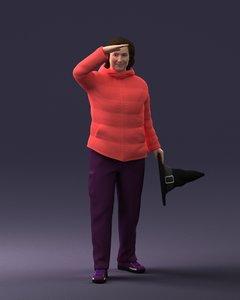 hat woman model