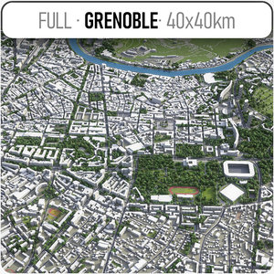 grenoble surrounding - 3D model