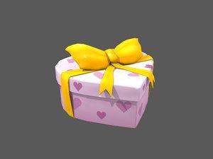 heart gift box 3D