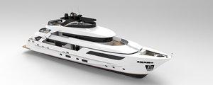san lorenzo 126 motor yacht 3D model
