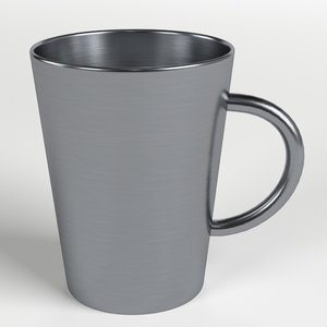 stainless steel tumbler handle 3D model