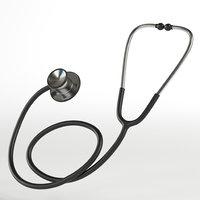stethoscope ready 3D model