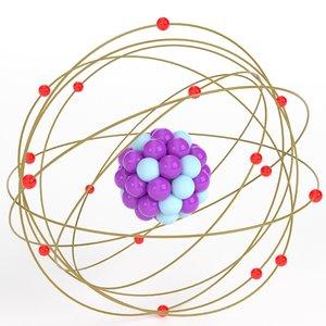 stylized atom 3D