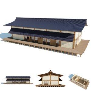 3D model japanese dojo