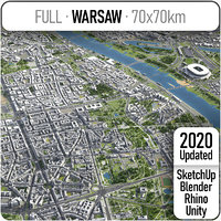 warsaw area urban 3D model