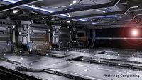 sci-fi scene renders - 3D model