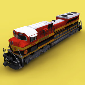 3D kcs emd locomotive model