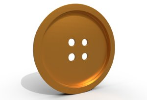 button fastener fashion 3D