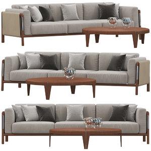 3D giorgetti urban sofa