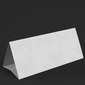 table tent template 7 model