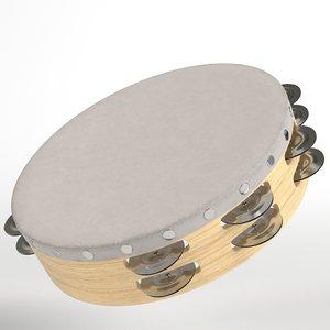 3D tambourine ready