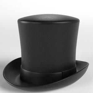 3D hat cylinder stove model