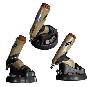 3D drill dremel mini model