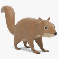 3D cartoon squirrel