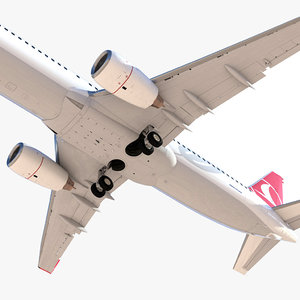 boeing 737-800 commercial airplane 3D
