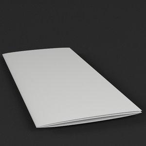 trifold mockup folded tris 3D model