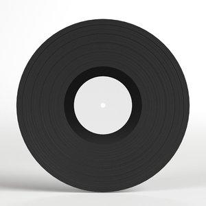 vinyl phonograph record 3D