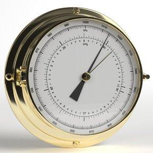 3D model wall barometer