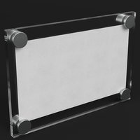 Wall mounted glass plate mockup