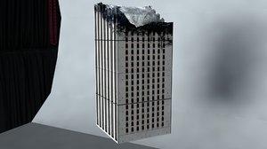 3D building ruin model
