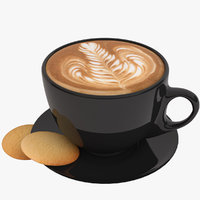 coffee latte art 3D model
