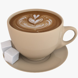 3D coffee latte