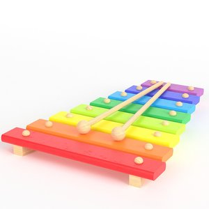 wooden xylophone toy model