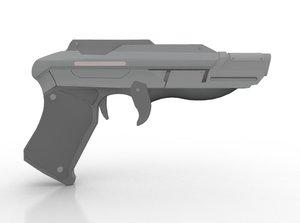 3D phaser pistol model