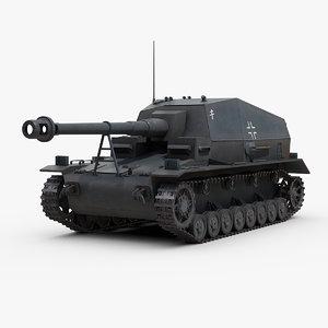 3D ww2 german selbstfahrlafette dicker model