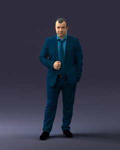3D scanned architectural human