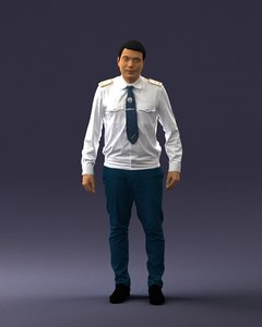 3D scanned human model