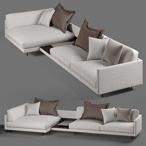3D wendelbo maho sofa model