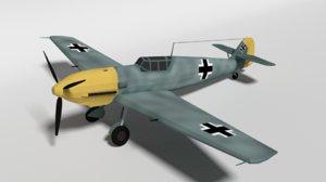 messerschmitt bf emil ww2 3D