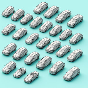 3D assembly cars model