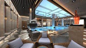 3D spa pool