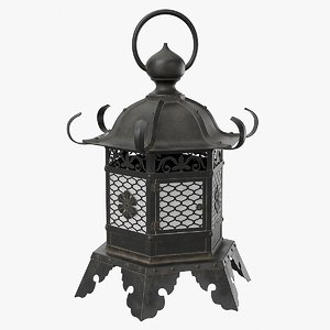 3D temple lantern