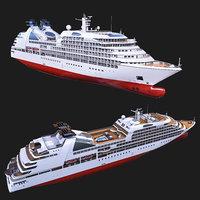 3D ship luxury cruise