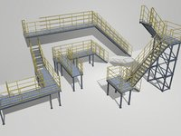 Industrial Stairs Modular 2