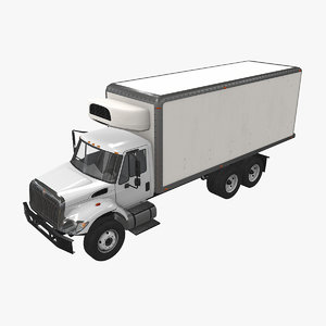 3D navistar international 7400 fridge