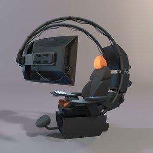 3D model seat monitor