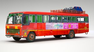 indian st bus 3D