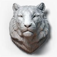 Tiger Head Animal Sculpture