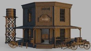 3D western saloon model