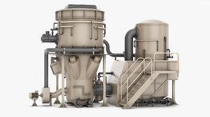 3D industrial machine model