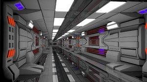 sci fi interior scene 3D