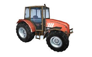 realistic tractor 3D model