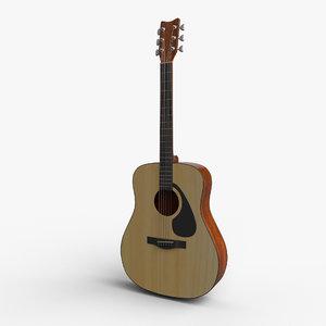 3D ready acoustic guitar model