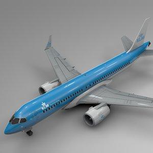 klm airbus a220-300 l582 3D